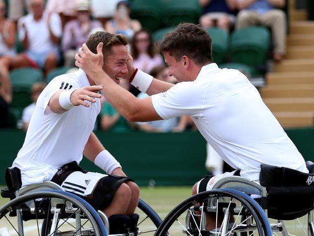 Alfie Hewett (left) and Gordon Reid have won three Wimbledon doubles titles