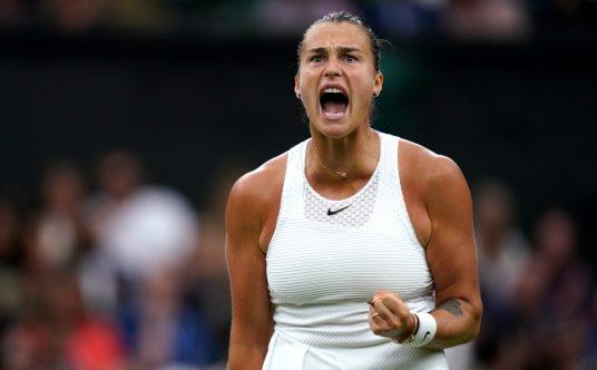 Aryna Sabalenka screaming
