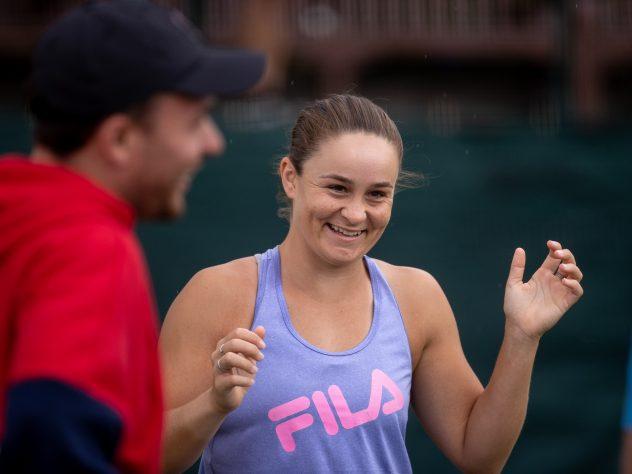 Ashleigh Barty in training