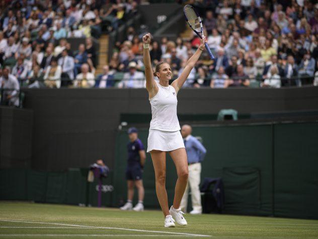 Karolina Pliskova celebrates winning