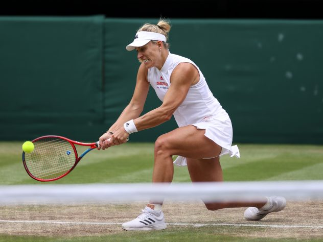 Angelique Kerber was unable to capitalise on a second-set lead