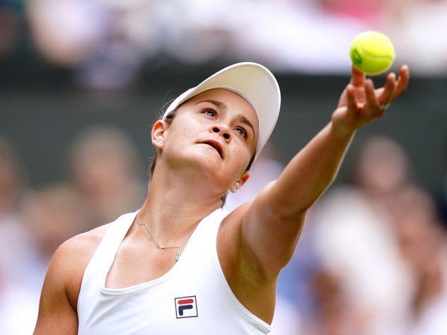 Barty beat Anna Blinkova despite serving nine double faults