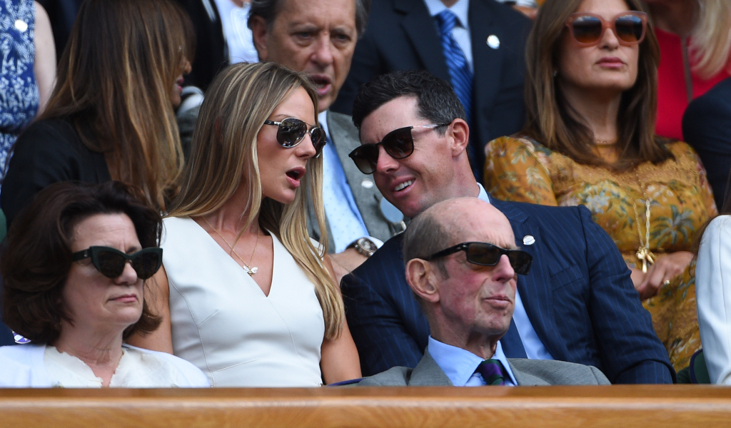 Rory McIlroy at Wimbledon