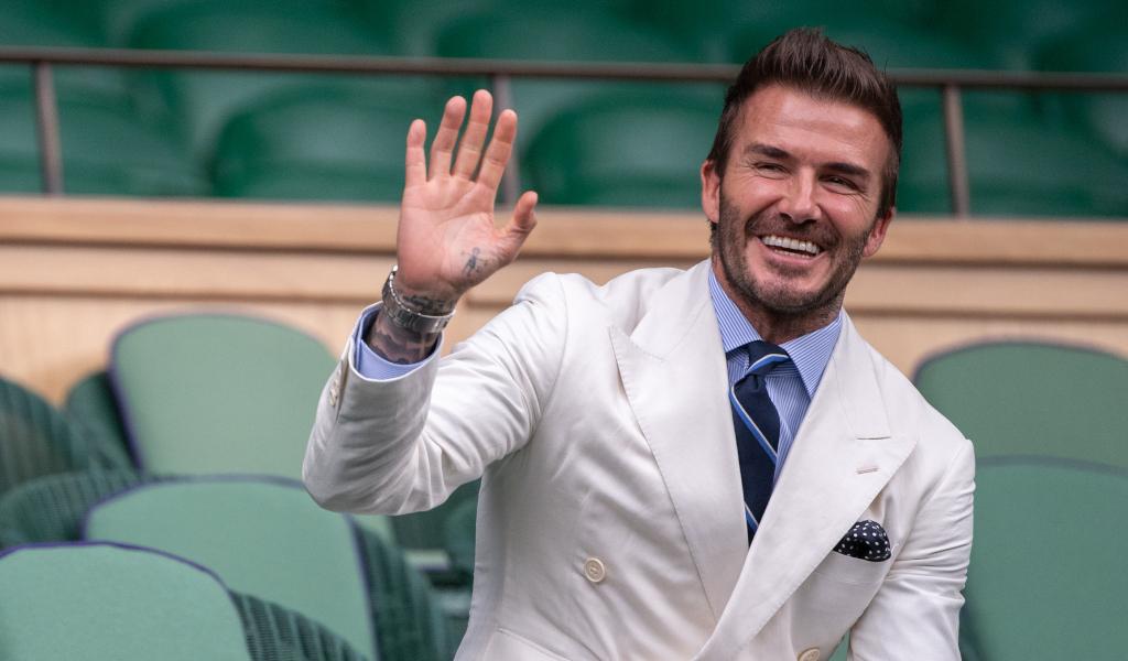 David Beckham in the Wimbledon royal box