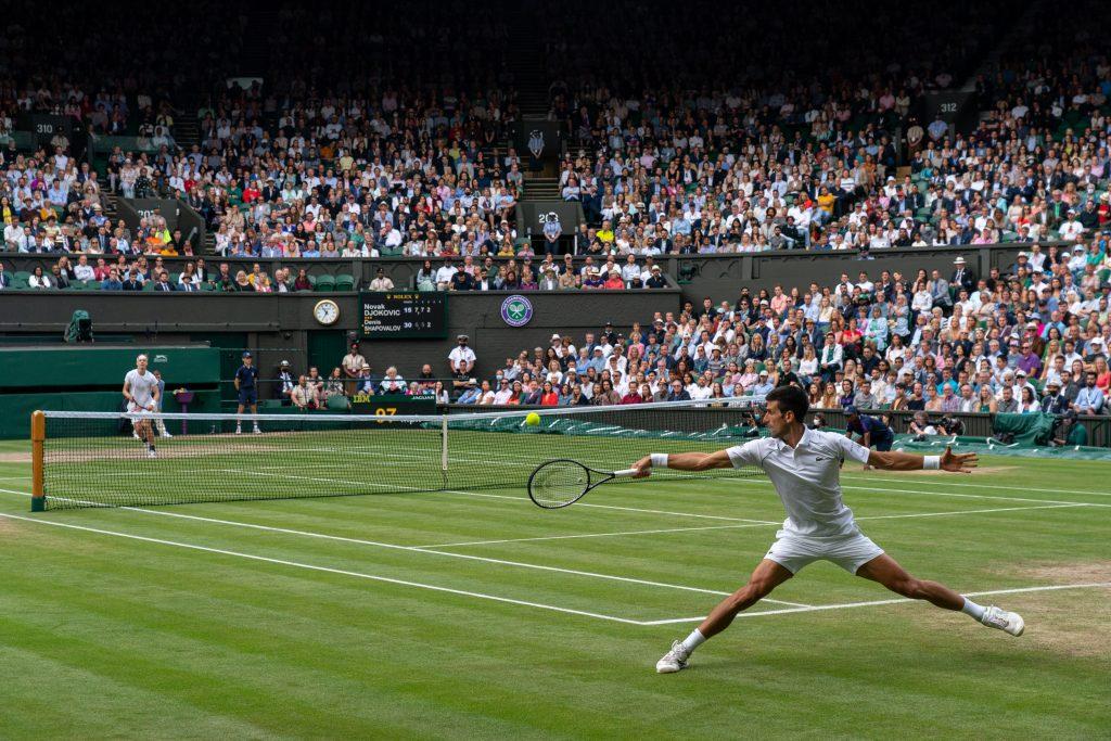 Novak Djokovic on the move