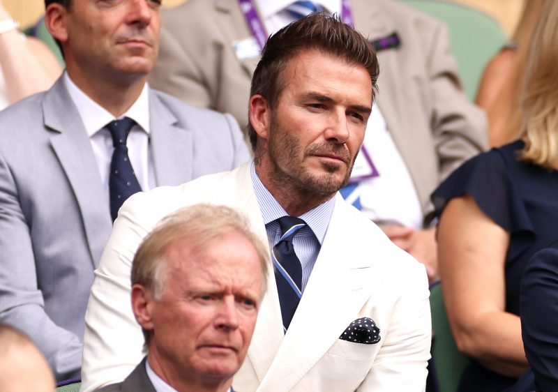 David Beckham Wimbledon Royal Box