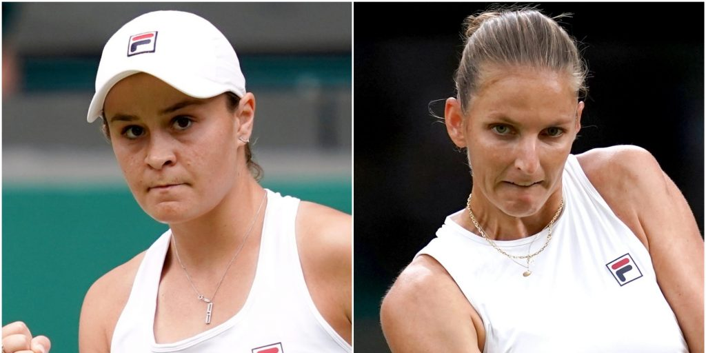 Ashleigh Barty and Karolina Pliskova