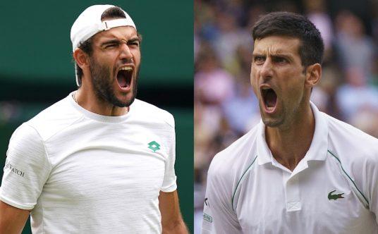 2021 Wimbledon men's final Novak Djokovic vs Matteo Berrettini