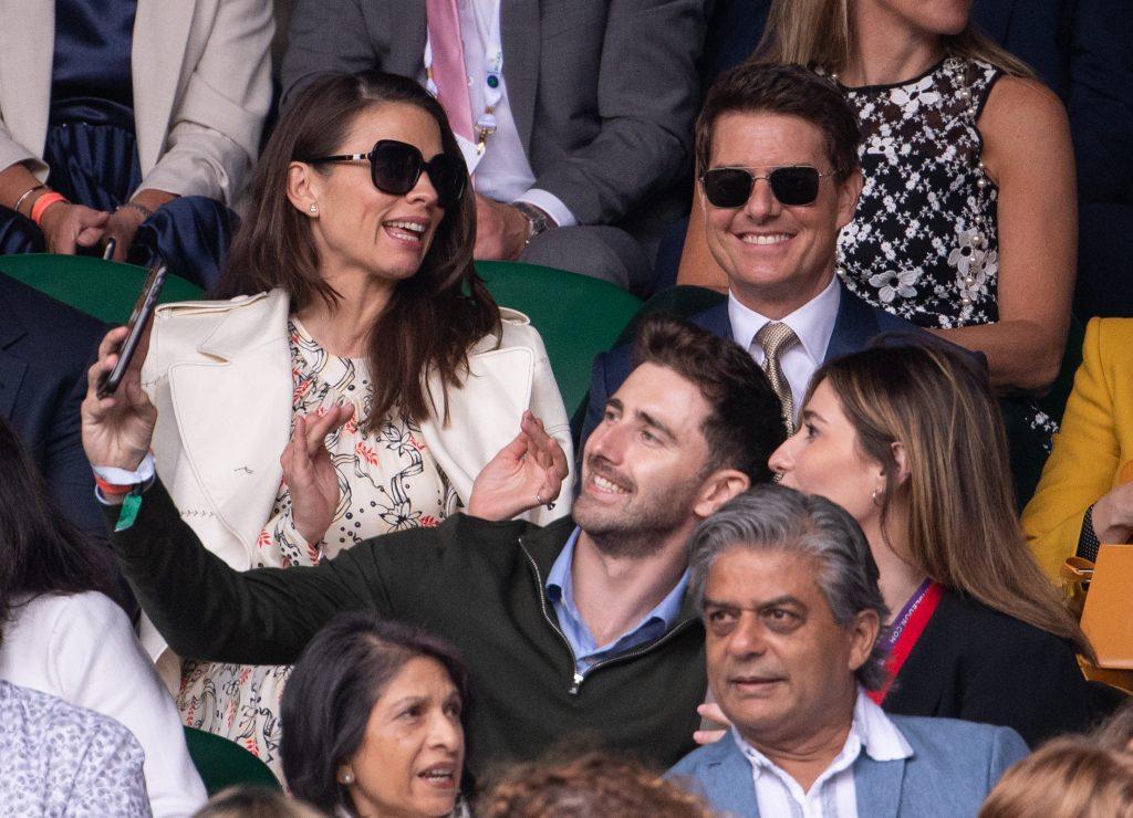 Tom Cruise in the Wimbledon Royal Box
