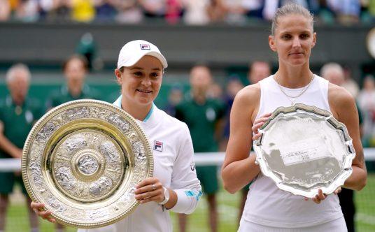 Ashleigh Barty and Karolina Pliskova 2021 Wimbledon