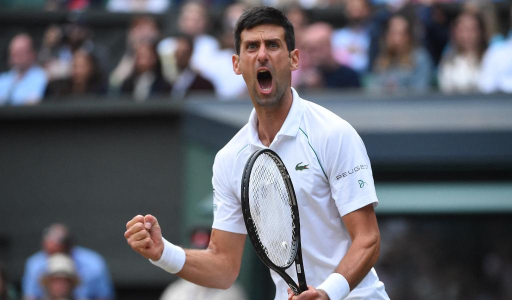 Novak Djokovic delight