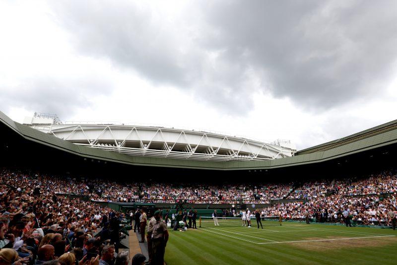 A full house at Centre Court at Wimbledon