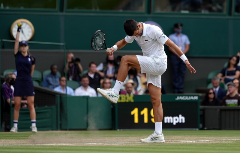 Novak Djokovic frustrated