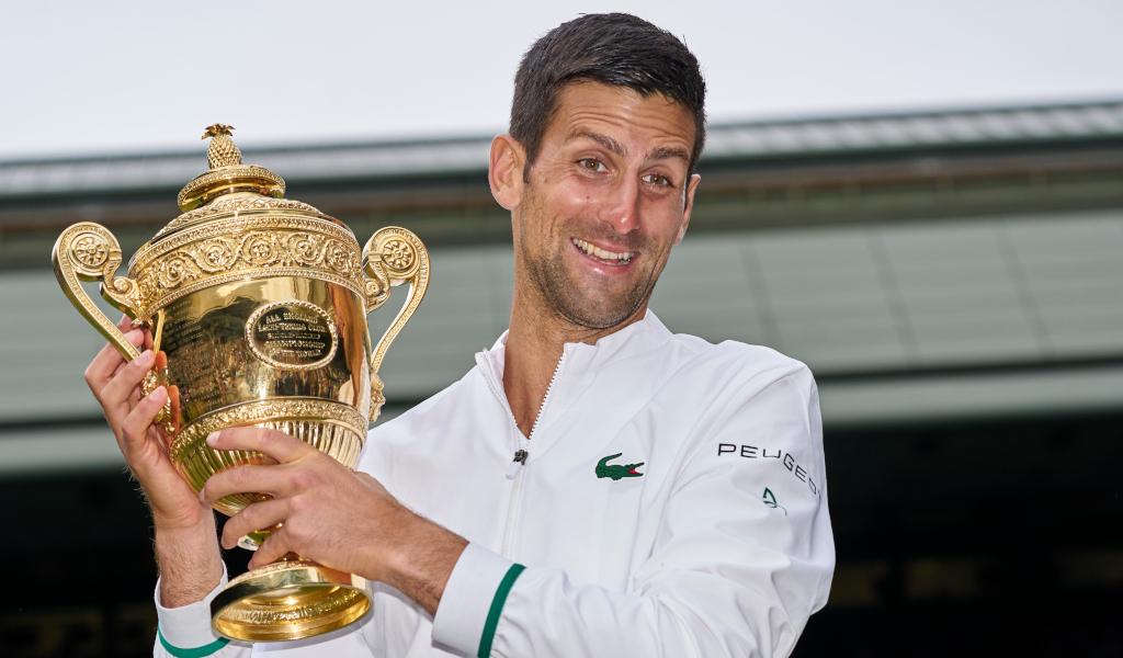 A joyful Novak Djokovic