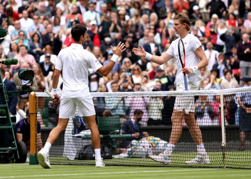 Novak Djokovic and Kevin Anderson