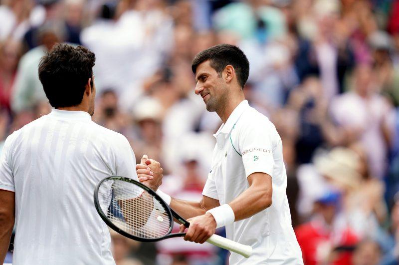 Cristian Garin and Novak Djokovic