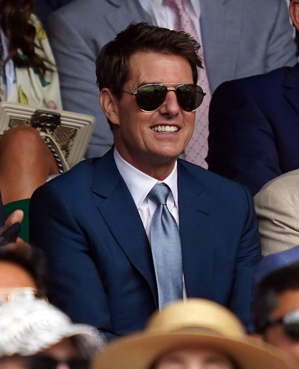 Tom Cruise at Wimbledon Royal Box