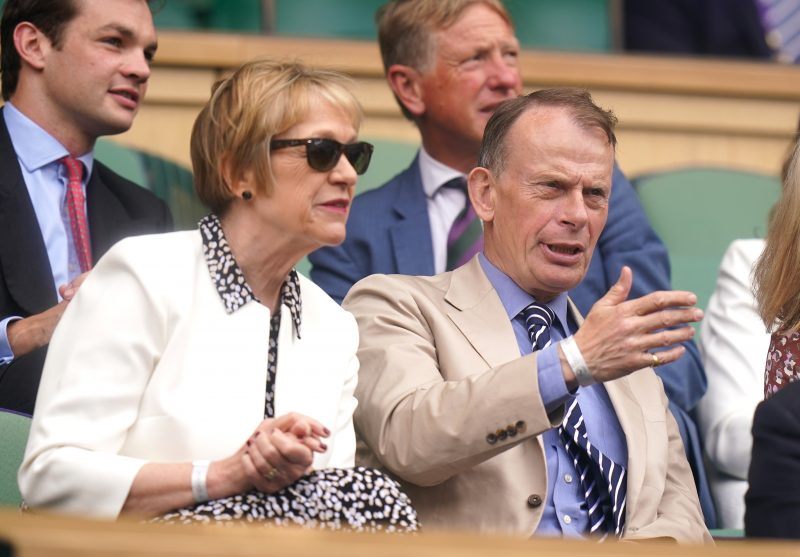 Andrew Marr and his wife Jackie Ashley