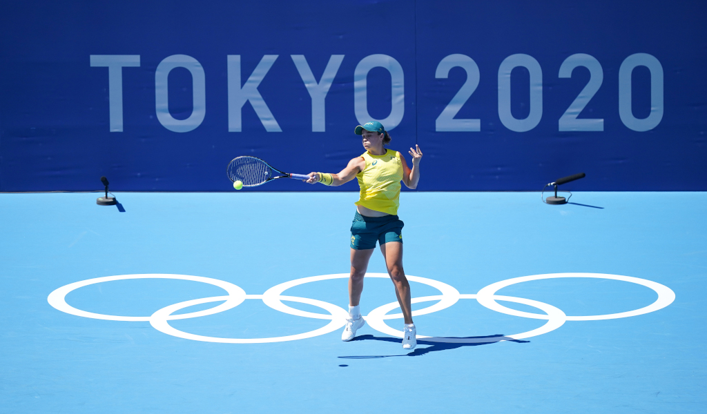 Ashleigh Barty at the Tokyo Olympics