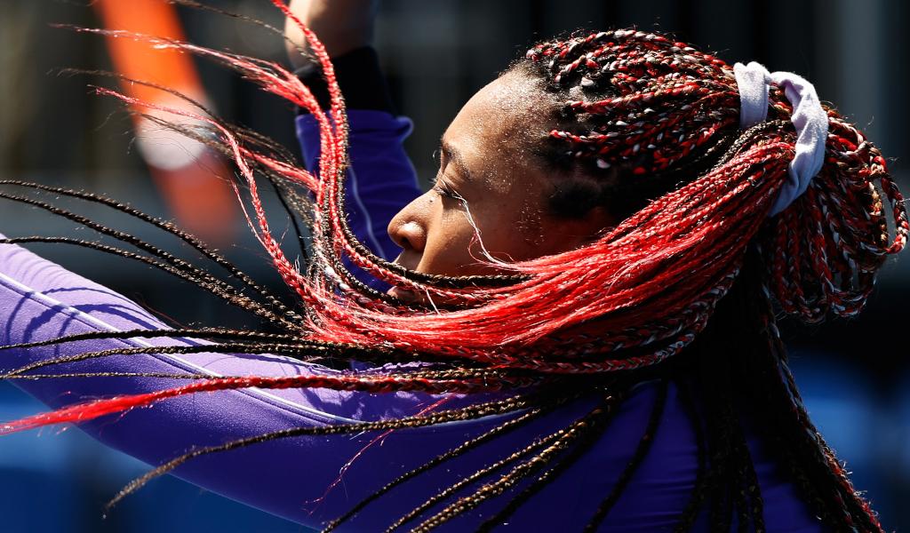 Naomi Osaka at the 2020 Tokyo Olympics