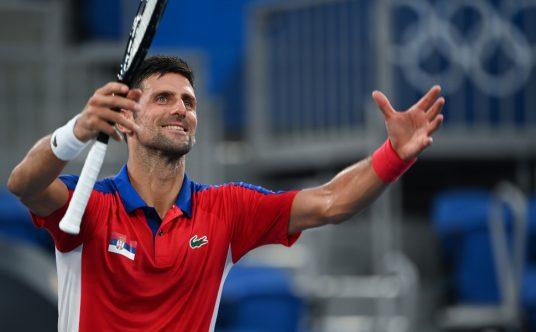 Novak Djokovic celebrations