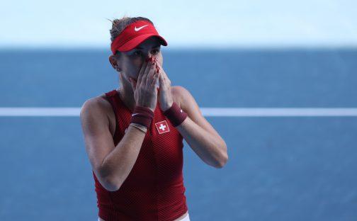 Olympic joy for Belinda Bencic