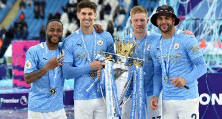 Manchester City Premier League title celebrations