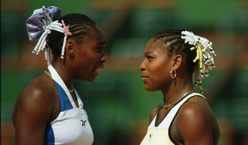 A young Venus Williams and Serena Williams