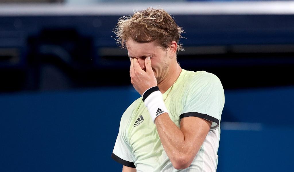 Alexander Zverev overcome by emotion