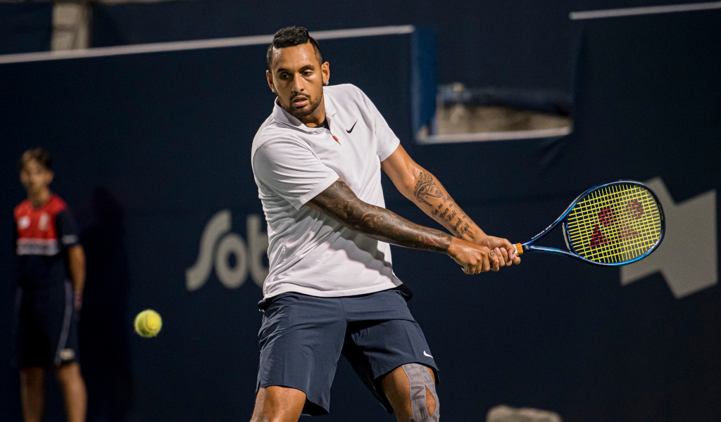 Nick Kyrgios in action on the ATP Tour