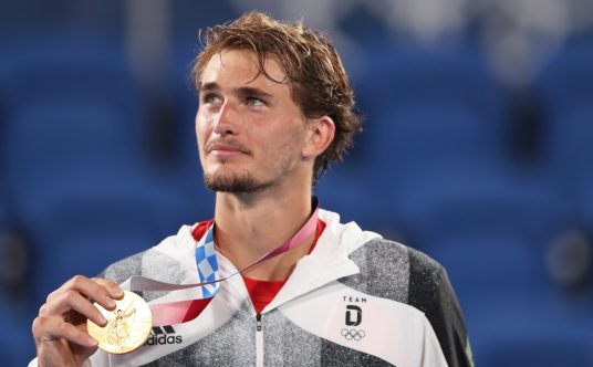 Alexander Zverev at the Tokyo Olympics