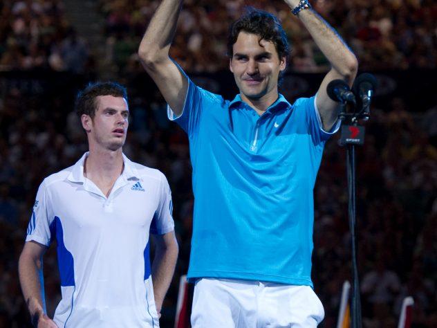 Federer left Andy Murray in tears as he won the 2010 Australian Open