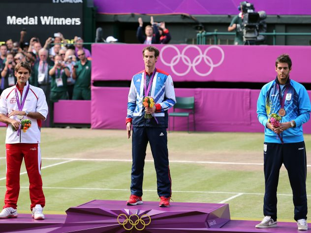 Having beaten Murray in the 2012 Wimbledon final, the Scot gained revenge at the London Olympics as Federer had to settle for silver