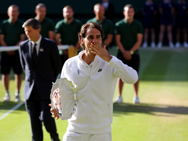 Federer was back in the Wimbledon final in 2014, only to lose to Djokovic