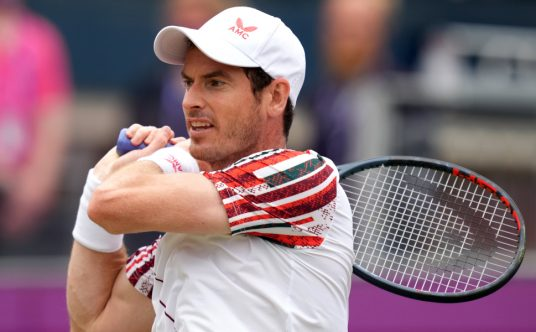 Andy Murray plays a shot
