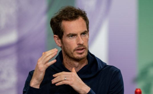 Andy Murray attends a press conference