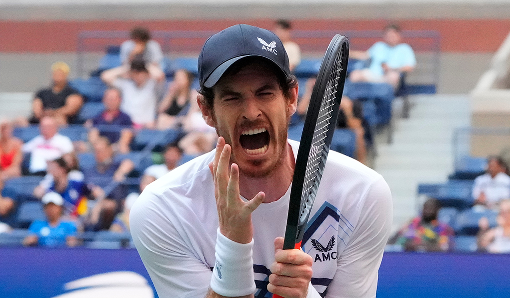 Andy Murray US Open angry