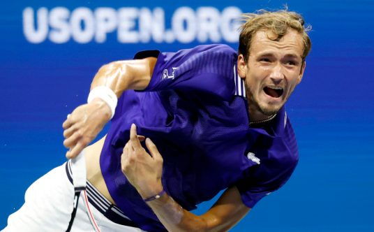 Daniil Medvedev in action