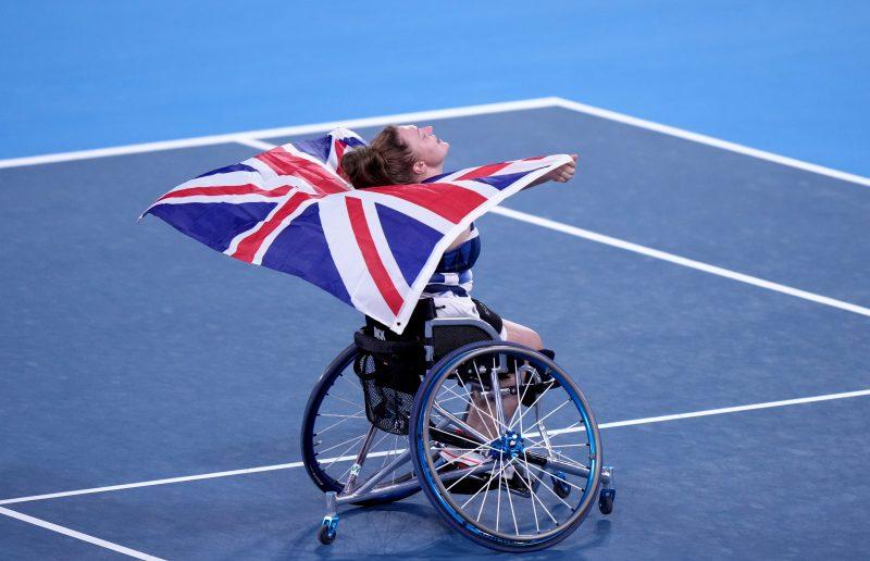Jordanne Whiley celebrates her historic bronze medal in Tokyo