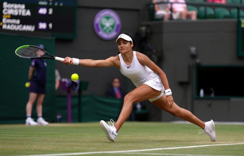 Emma Raducanu at Wimbledon