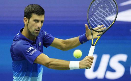 Novak Djokovic drop shot at US Open