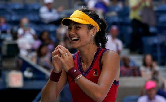 Emma Raducanu enjoys her victory