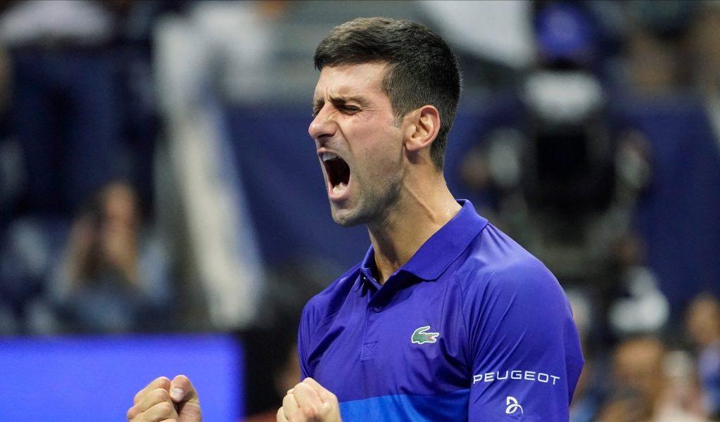 Celebrations for Novak Djokovic