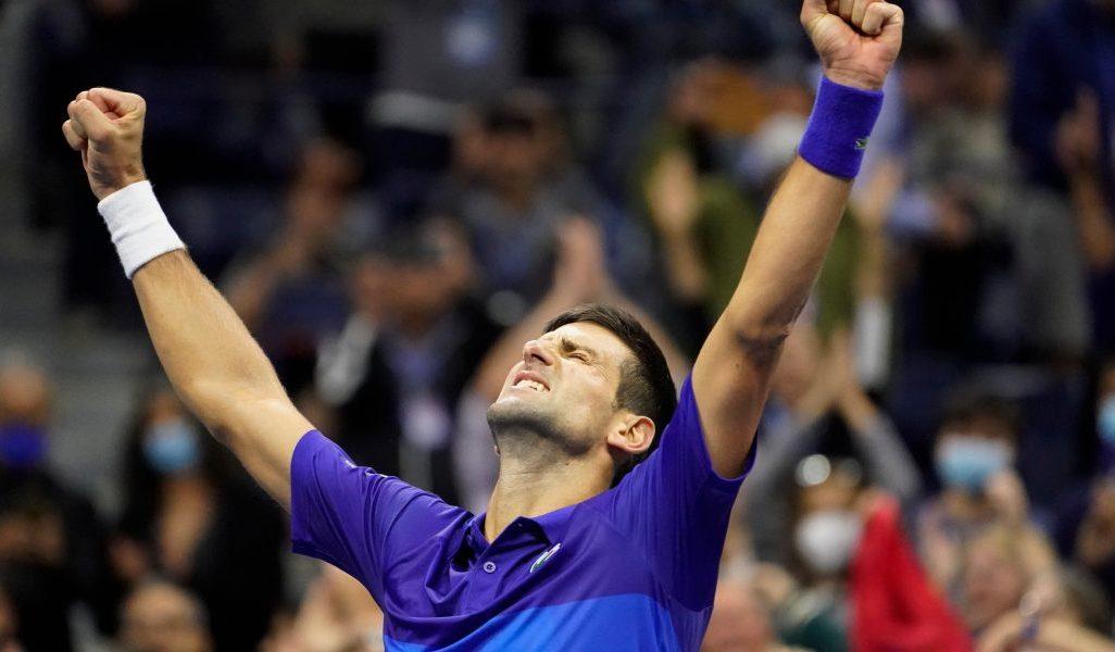 Novak Djokovic enjoys that winning feeling