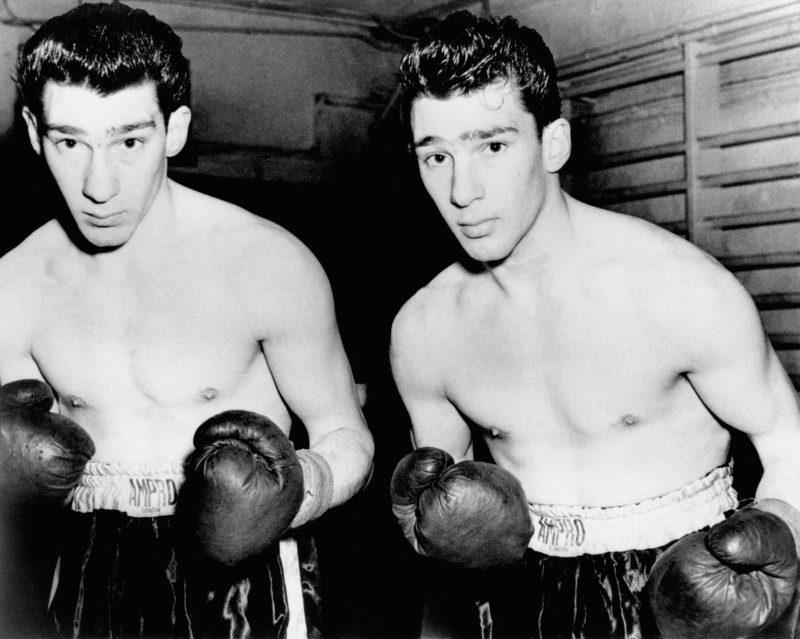 Twins Ronnie and Reggie Kray