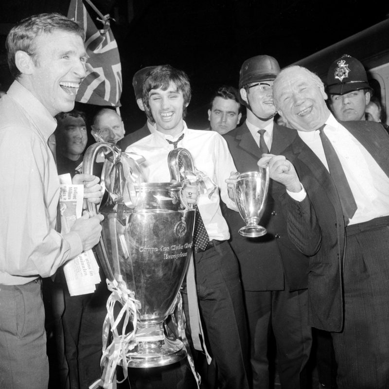 Manchester United win the European Cup