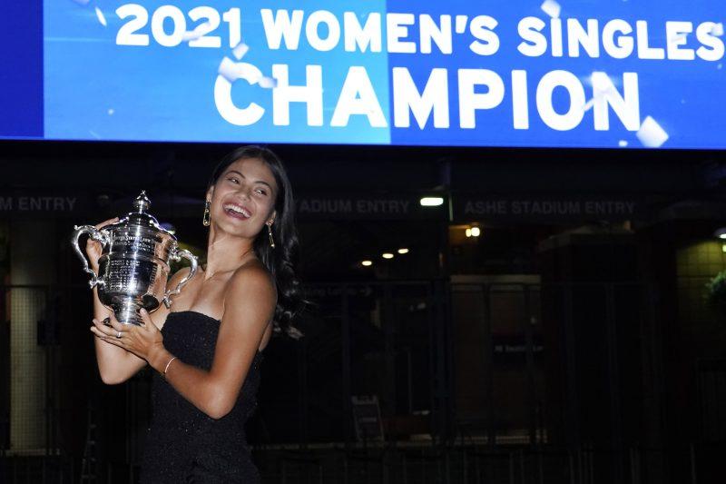 Emma Raducanu celebrates
