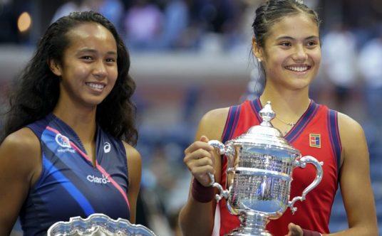 Leylah Fernandez and Emma Raducanu