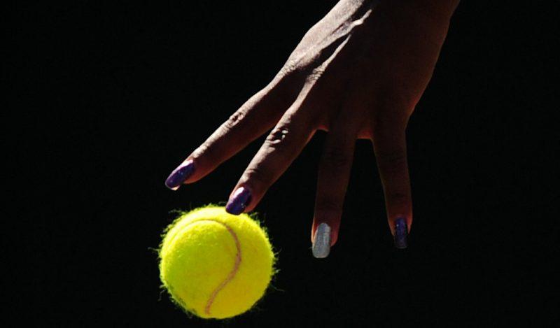 Serena Williams hand/nails