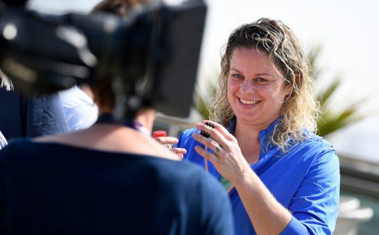 Kim Clijsters media interview